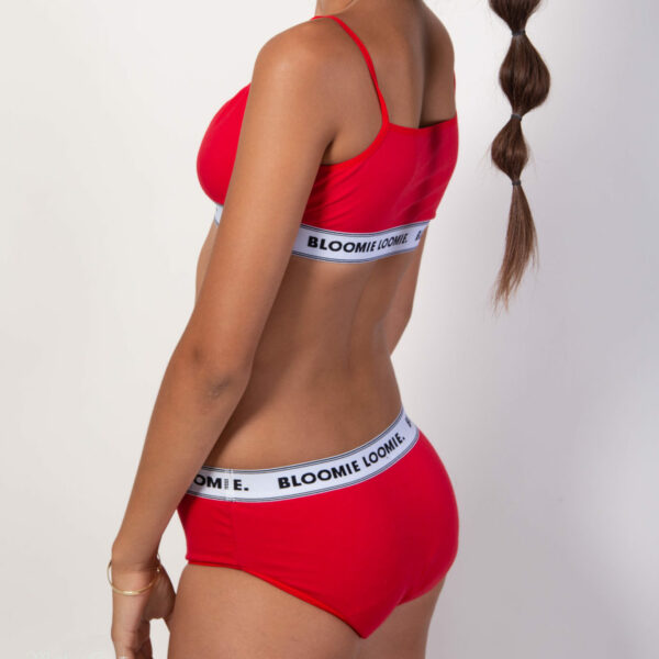 Ensemble Bloomie Loomie ICONIC Red Glam culotte + brassière