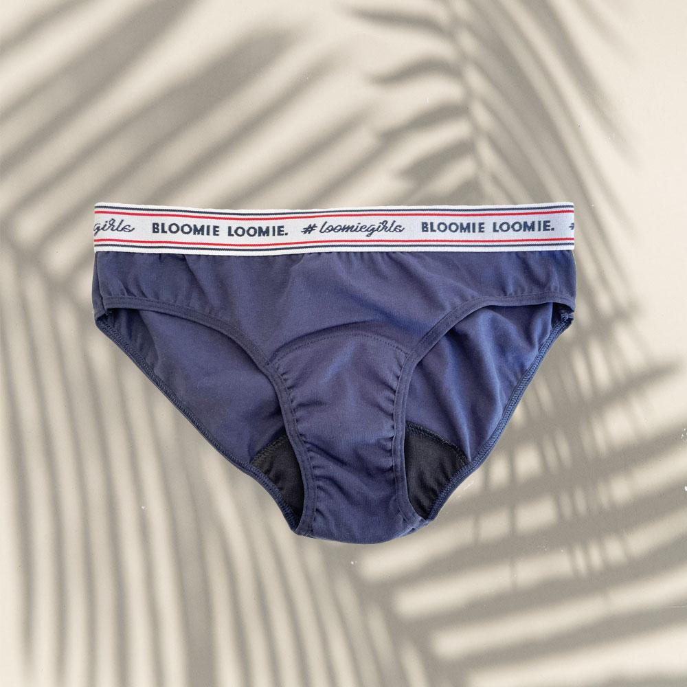 Culotte menstruelle flux léger Navy 2 Bloomie Loomie
