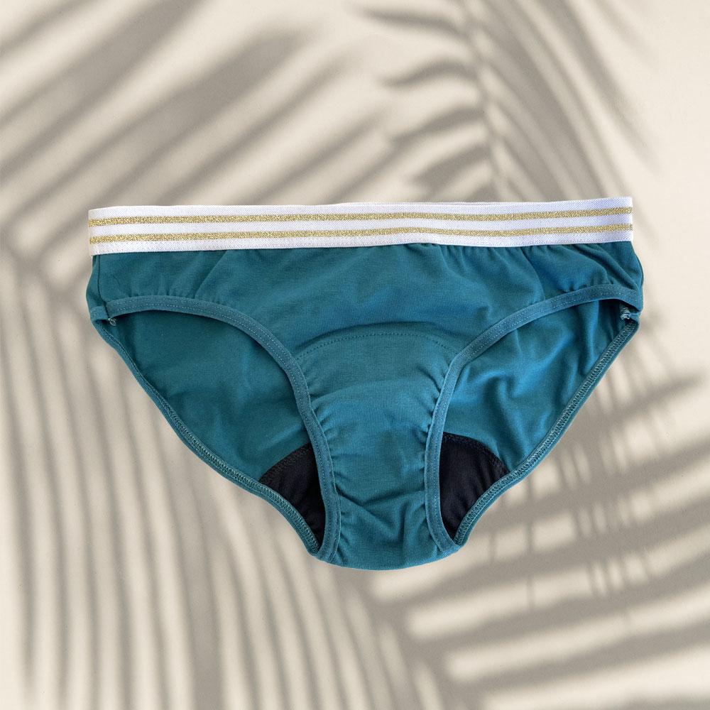 Culotte menstruelle flux léger Blue Lagoon 3 Bloomie Looomie