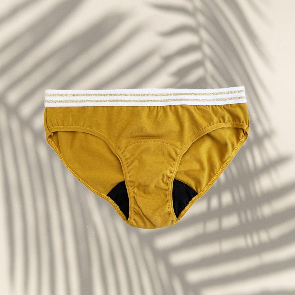 Culotte menstruelle flux léger Yellow Stone 3 Bloomie Looomie