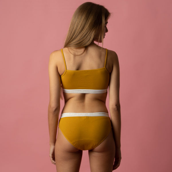 ensemble culotte menstruelle ado yellow stone verso Bloomie Loomie