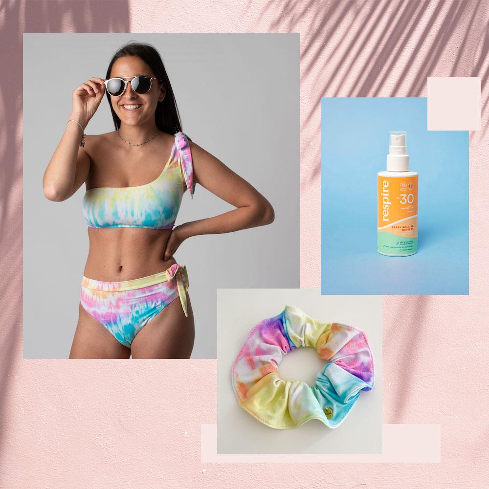 box maillot de bain menstruel ado ocean avec chouchou et solaire